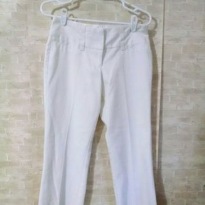 Maurices white dress pants size 1/2